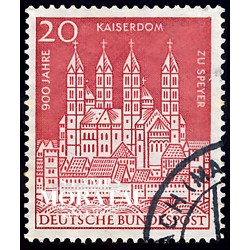 1961 Germany BRD Sc 843 Cathedral Speyer  (o) Used, Nice  (Scott)