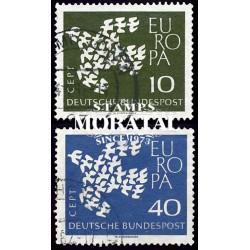 1961 Germany BRD Sc 844/845 Europe '61  (o) Used, Nice  (Scott)