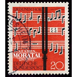 1962 Germany BRD Sc 849 Festival music  (o) Used, Nice  (Scott)