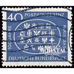 1963 Germany BRD Sc 863 International Postal Conference  (o) Used, Nice  (Scott)