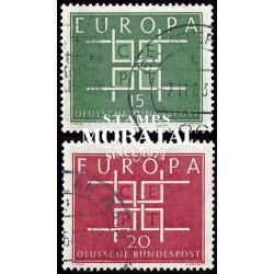 1963 Germany BRD Sc 867/868 Europe '63  (o) Used, Nice  (Scott)