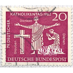 1962 Germany BRD Sc 850 Catholic day ' 62  (o) Used, Nice  (Scott)