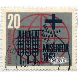 1963 Germany BRD Sc 856 Mercy works  (o) Used, Nice  (Scott)