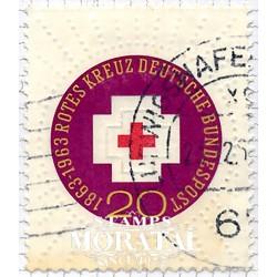 1963 Germany BRD Sc 865 International Red Cross centenary  (o) Used, Nice  (Scott)
