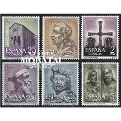 1961 Spanien 1289/1294  Oviedo  * Falz Guter Zustand  (Michel)