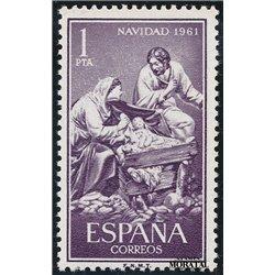 1961 Espagne 1073 Noël Noël *MH TB Beau  (Yvert&Tellier)
