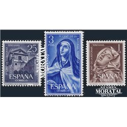 1962 Espagne 1093/1095  Teresiana Peinture **MNH TTB Très Beau  (Yvert&Tellier)