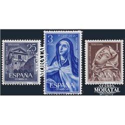 1962 Espagne 1093/1095  Teresiana Peinture *MH TB Beau  (Yvert&Tellier)
