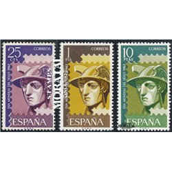 1962 Espagne 1096/1098  Journée du timbre Philatélie **MNH TTB Très Beau  (Yvert&Tellier)