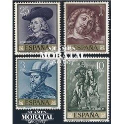 1962 Spanien 1322/1325  Rubens Gemälde ** Perfekter Zustand  (Michel)