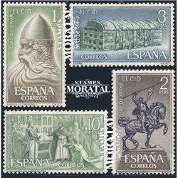 1962 Espagne 1109/1112  Le Cid  *MH TB Beau  (Yvert&Tellier)