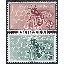 1962 Spanien 1340/1341  Europa Europa * Falz Guter Zustand  (Michel)