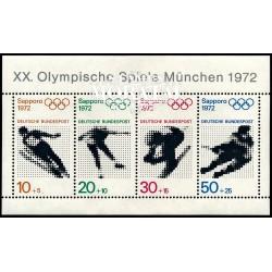 1971 Germany BRD Sc B475a Olympics Sapporo 72  **MNH Very Nice, Mint Never Hinged?  (Scott)