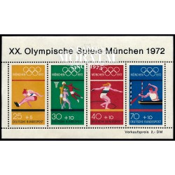 1972 Germany BRD Sc B490 72 Munich Olympics  **MNH Very Nice, Mint Never Hinged?  (Scott)