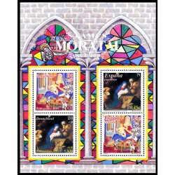 2001 Germany BRD Sc B896a Christmas 01. Together with Spain  **MNH Very Nice, Mint Never Hinged?  (Scott)