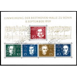 1959 Germany BRD Sc 804 Room Beethoven and great musicians  (o) Used, Nice  (Scott)