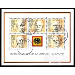 1982 Germany BRD Sc 1384 Presidents Germany  (o) Used, Nice  (Scott)