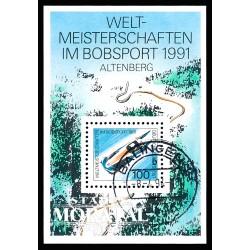 1991 Germany BRD Sc 1626 Bobsleigh Championship  (o) Used, Nice  (Scott)