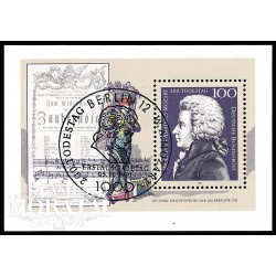 1991 Germany BRD Sc 1691 Death Mozart bicentennial  (o) Used, Nice  (Scott)