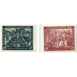 1949 Germany DDR Sc 0 Soviet zone  Mint with Oxide on the back  (Scott)