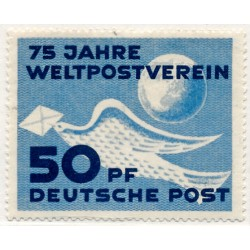 1949 Germany DDR Sc 0 75 years of the Universal Postal Union (UPU)  *MH Nice, Mint Hinged  (Scott)