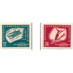 1951 Germany DDR Sc 0 Winter sports championships of the GDR  *MH Nice, Mint Hinged  (Scott)