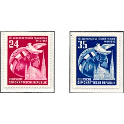 1953 Germany DDR Sc 0 People's Congress for Peace, Vienna  *MH Nice, Mint Hinged  (Scott)
