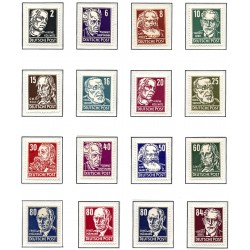 1953 Germany DDR Sc 0 Personalities from politics, art and science  *MH Nice, Mint Hinged  (Scott)