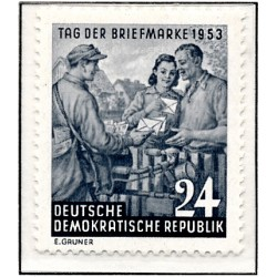 1953 Germany DDR Sc 0 day of the stamp  *MH Nice, Mint Hinged  (Scott)