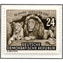 1953 Germany DDR Sc 0 75 years of Leipzig Zoo  *MH Nice, Mint Hinged  (Scott)