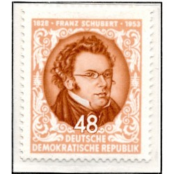 1953 Germany DDR Sc 0 Anniversary of the death of Franz Schubert  *MH Nice, Mint Hinged  (Scott)