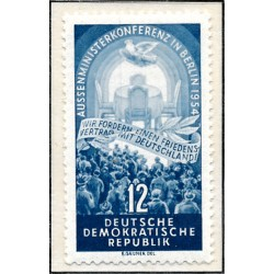 1954 Germany DDR Sc 0 Four Power Conference, Berlin.  *MH Nice, Mint Hinged  (Scott)