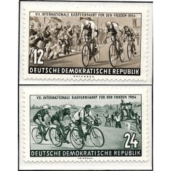 1954 Germany DDR Sc 0 International Long Distance Cycling for Peace Warsaw - Berlin  *MH Nice, Mint Hinged  (Scott)