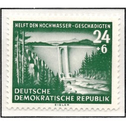 1954 Germany DDR Sc 0 Help for the flood victims  *MH Nice, Mint Hinged  (Scott)