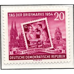 1954 Germany DDR Sc 0 Day of the stamp.  *MH Nice, Mint Hinged  (Scott)