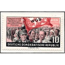 1955 Germany DDR Sc 0 WGB Vienna April 1955 International Conference  *MH Nice, Mint Hinged  (Scott)