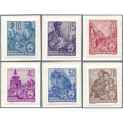 1955 Germany DDR Sc 0 Five Year Plan Supplementary Values  *MH Nice, Mint Hinged  (Scott)
