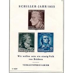 1955 Germany DDR Sc 0 Schiller Friedrich  *MH Nice, Mint Hinged  (Scott)