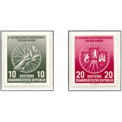 1956 Germany DDR Sc 0 International Long Distance Cycling for Peace IX  *MH Nice, Mint Hinged  (Scott)