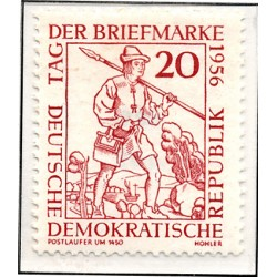 1956 Germany DDR Sc 0 day of the stamp  *MH Nice, Mint Hinged  (Scott)