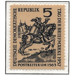 1957 Germany DDR Sc 0 day of the stamp  *MH Nice, Mint Hinged  (Scott)
