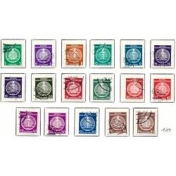 1955 Alemania DDR Yv Servicio 1/8/27 0  (o) Usado, Buen Estado  (Yvert&Tellier)