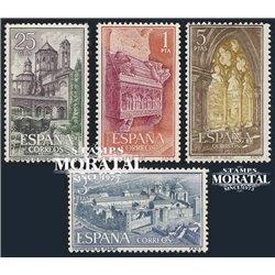 1963 Spanien 1379/1382  Maria Poblet Kloster-Tourismus ** Perfekter Zustand  (Michel)