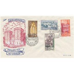 1963 Espagne 1157/1160  Maria de Poblet Monastère-Tourisme *MH TB Beau  (Yvert&Tellier)