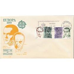 1980 Spanien 2460/2461  Europa Europa Ersttagsbrief  Guter Zustand  (Michel)