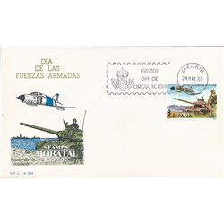 1980 Spanien 2464 Streitkräfte Militär Ersttagsbrief  Guter Zustand  (Michel)