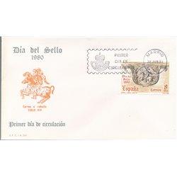 1980 Spanien 2467 Tag der Briefmarke Philatelie Ersttagsbrief  Guter Zustand  (Michel)