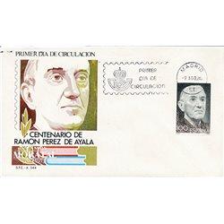 1980 Spanien 2470 Perez Ayala  Ersttagsbrief  Guter Zustand  (Michel)