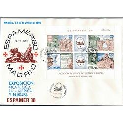 1980 Spanien Block21 Block-Espamer 80 Ausstellung Ersttagsbrief  Guter Zustand  (Michel)
