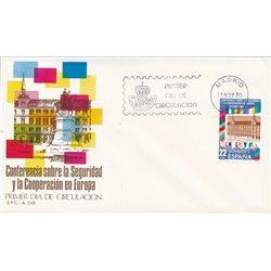 1980 Spanien 2482 Sicherheit  Militär Ersttagsbrief  Guter Zustand  (Michel)
